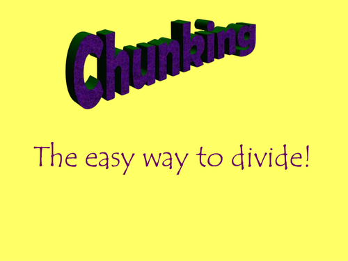 Chunking powerpoint by danielleb Teaching Resources TES – Division Chunking Worksheet