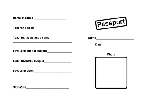 Getting to know you passport