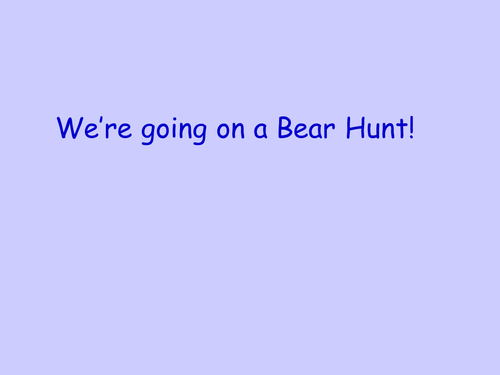 Bear Hunt Counting