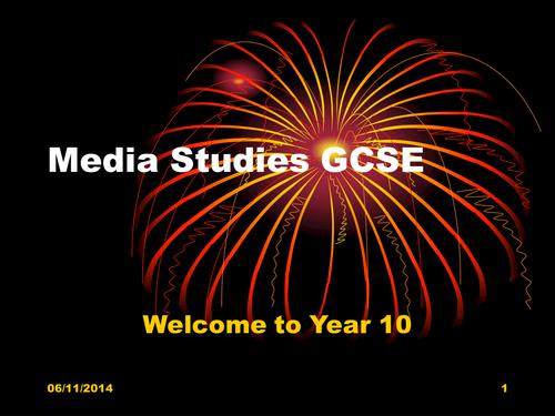 GCSE Media Studies Introduction