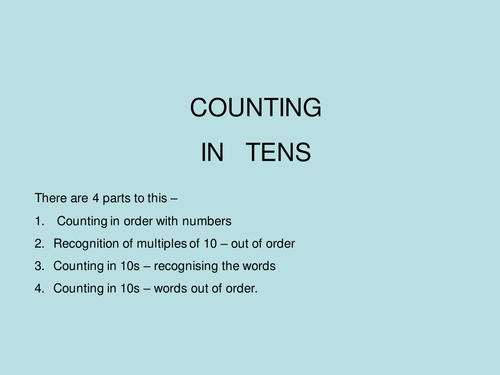 counting in 10s by Year1_teacher - Teaching Resources - Tes
