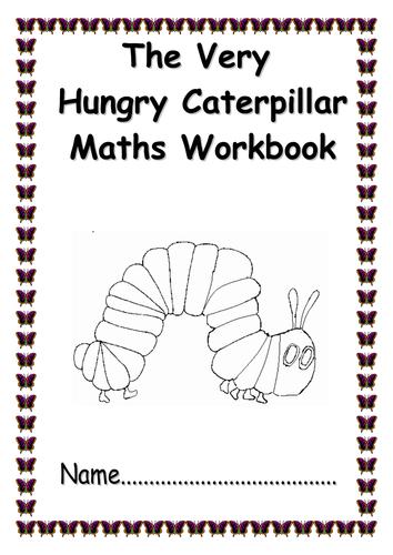 'The Very Hungry Caterpillar' maths workbook