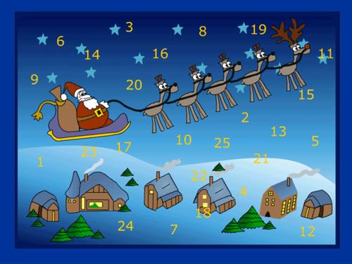 Advent calendar template
