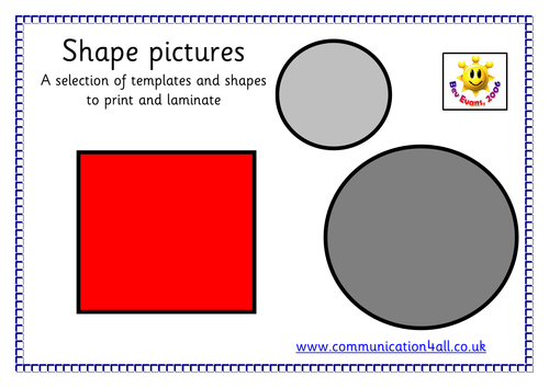 Shape picture match up