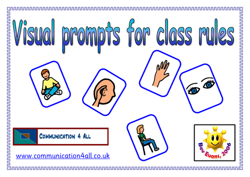 Visual Prompt Cards for class rules