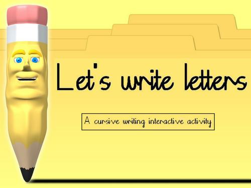 Let's Make Letters - Cursive letter formation for IWB