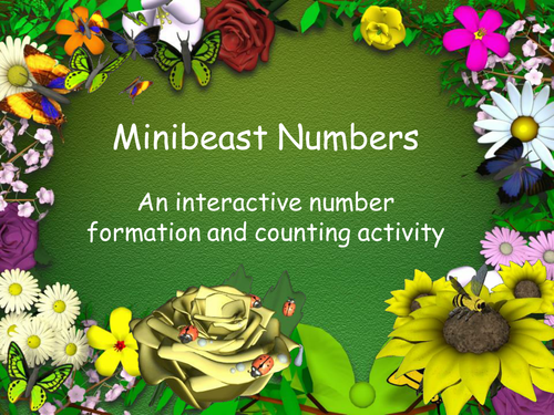 Minibeast Numbers - an IWB activity