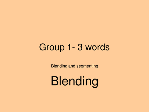 Jolly Phonics Powerpoint for segmenting and Blending sets1-3