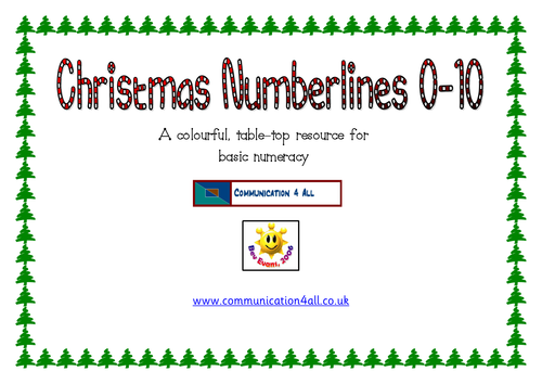 Christmas Number lines 0-10