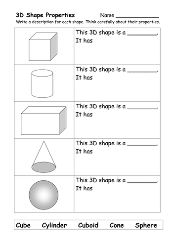 What am I? Naming 3d shapes by Miss Mac | Teaching Resources