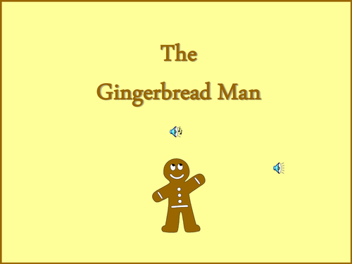 The Gingerbread man electronic book