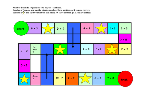 Number bonds to 10 (addition) game