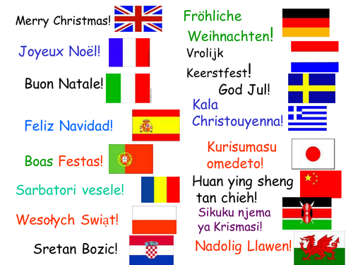 Merry Christmas In Different Languages.Say Merry Christmas In 16 Languages