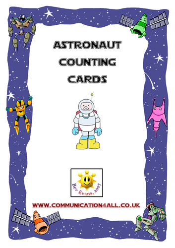 Astronaut Counting Cards 0-10