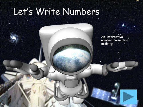 Space Themed Number Formation for IWB