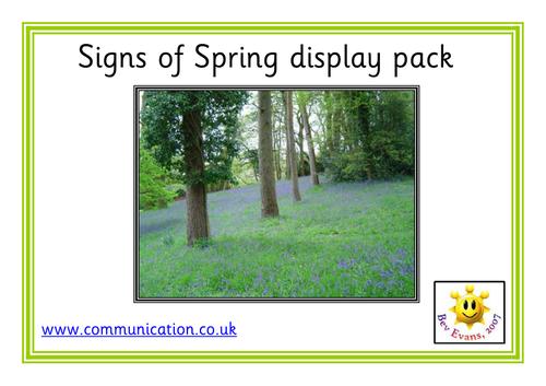 Signs of Spring - Photo Display Pack
