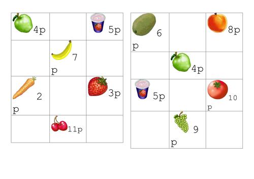 Buying Fruit Bingo