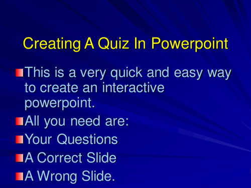Guide To Making Interactive Quiz In Powerpoint