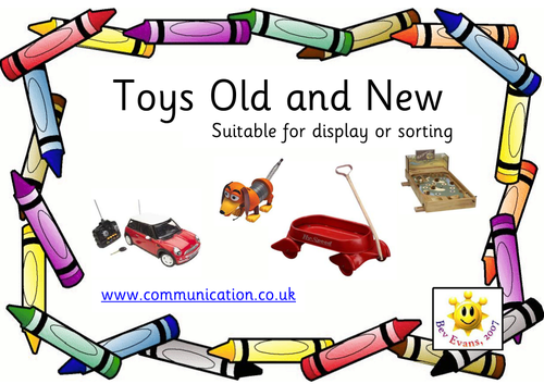 Toys Old and New: Photo cards for sorting or display