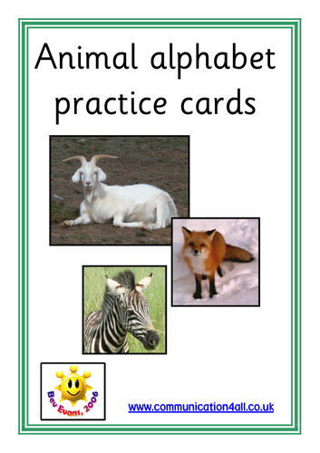 Animal Alphabet Letter Formation Cards