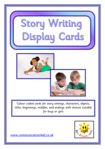 Story Writing Cards for Display