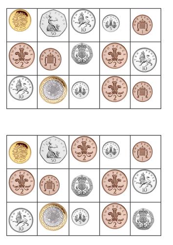Genius image throughout money bingo printable