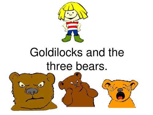 Goldilocks and the three bears powerpoint
