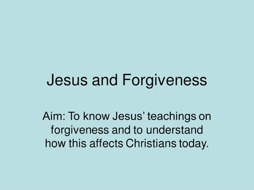 JESUS AND FORGIVENESS