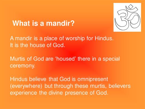 Guide to a mandir