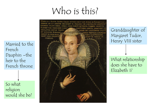 Mary Queen of Scots Story - Visual Memory Exercise