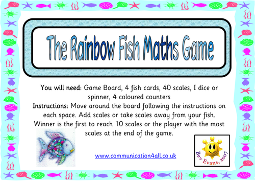 Rainbow Fish Worksheets The Rainbow Fish Maths Game