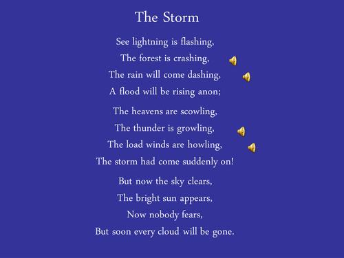 Storm at sea poem essay