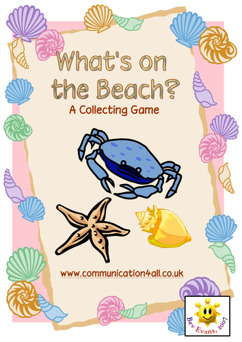 What's on the beach? A collecting board game