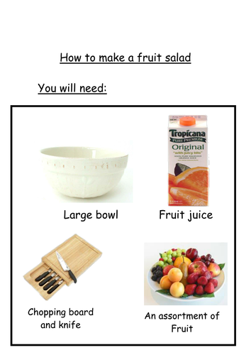 Recipes for fruit salad