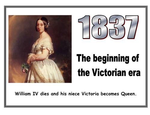 Victorian Timeline display