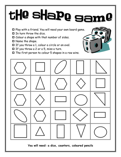 2d shape resources by loz12 teaching resources tes - Shape Pictures To Colour
