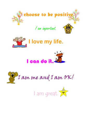 affirmation labels