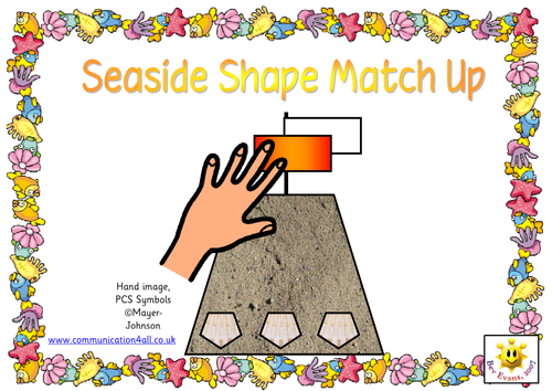 Shape picture match up - Seaside theme