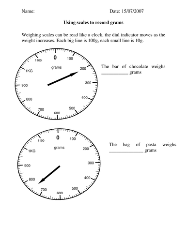 Reading scales weight in g and kg worksheet by lynreb teaching reading measure scales ibookread PDF