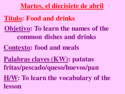 Spanish Food Drink Worksheets By Headfrog Teaching Resources Tes