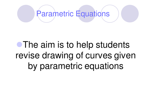Parametric equation