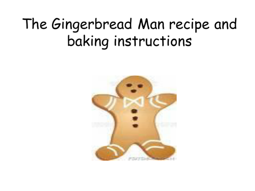 Gingerbread Man Recipe And Baking Instructions By Callygillespie