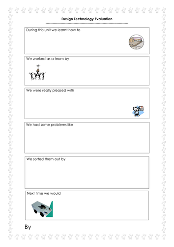 design technology evaluation sheet by carriecat10 teaching resources tes. Black Bedroom Furniture Sets. Home Design Ideas