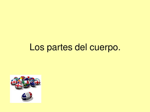 Body Parts: Spanish Powerpoint and Worksheet
