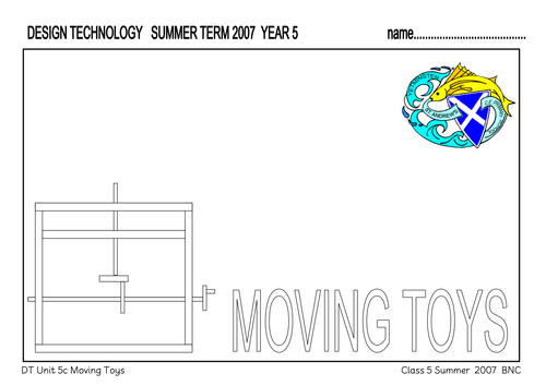 MOVING TOYS WORK BOOKLET