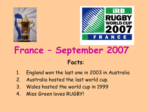 World Cup - Rugby 2007