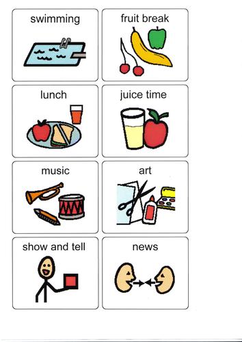 on Preschool Visual Schedule Printable