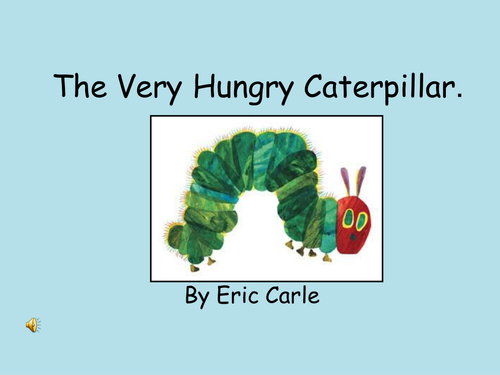 THe hungry caterpillar electronic book.