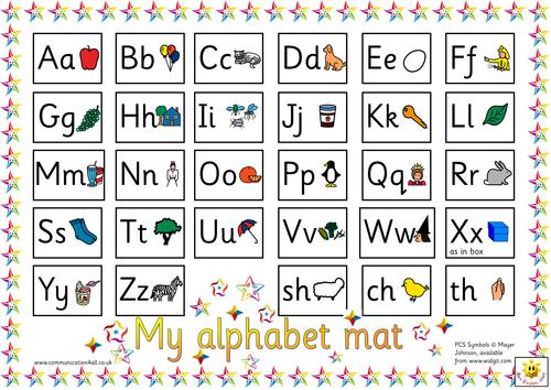 Reversible Alphabet mat: Sassoon or Cursive versions | Teaching ...