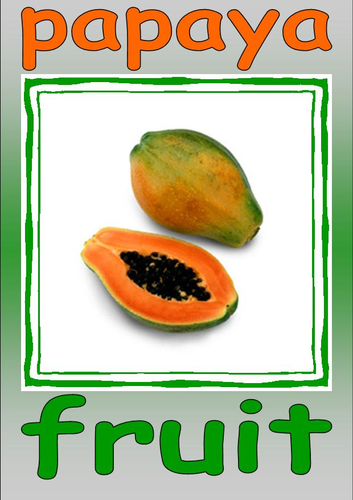 Fruit and Vegetable cards (part 6)